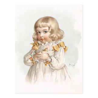 Cartão Postal Menina do primavera de Maud Humphrey