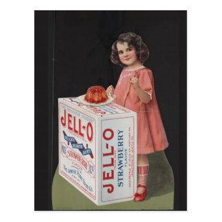 Cartão Postal MENINA do século XX da ARTE JELLO do POSTER