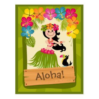 Cartão Postal Menina havaiana