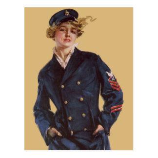 Cartão Postal Menina Howard Chandler Christy do marinho do