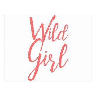 Cartão Postal Menina selvagem (expressões feministas)