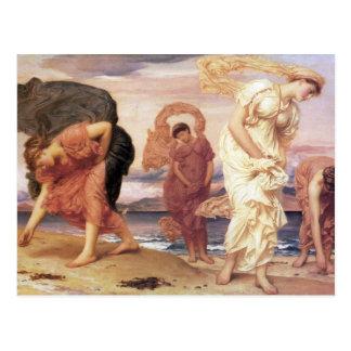 Cartão Postal Meninas gregas que pegaram seixos - Frederic