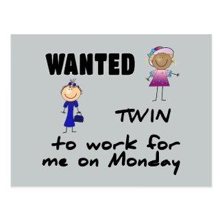 Cartão Postal meninas queridas do gêmeo…