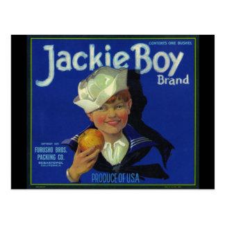 Cartão Postal Menino de Jackie que guardara Apple