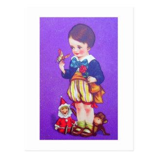 Cartão Postal menino do bowtie