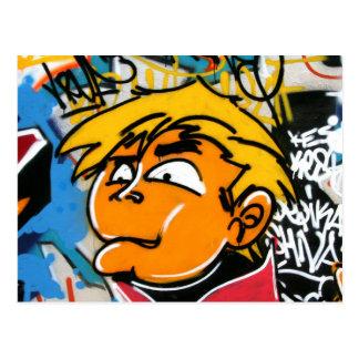 Cartão Postal Menino dos grafites