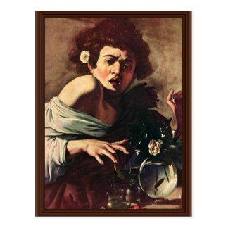 Cartão Postal Menino mordido por um lagarto por Michelangelo