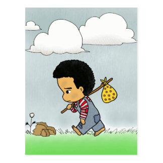 Cartão Postal Menino triste bonito