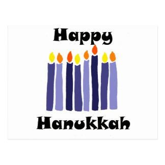 Cartão Postal Menorah legal Candles a arte feliz de Hanukkah