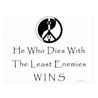Cartão Postal Menos inimigos