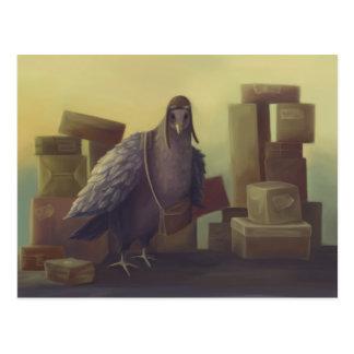 Cartão Postal Mensageiro-pombo
