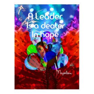 Cartão Postal Mensagem do incentivo para a liderança