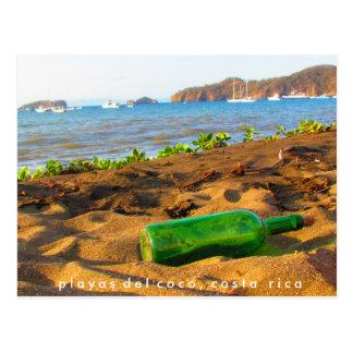 Cartão Postal Mensagem em uma garrafa Playas del Coco, Costa