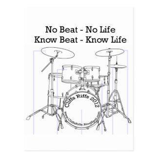 Cartão Postal Mensagem positiva para bateristas, músicos,