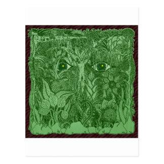 Cartão Postal Mente de Gaia da natureza