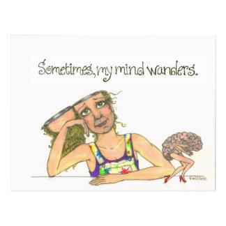 Cartão Postal mente de vagueamento