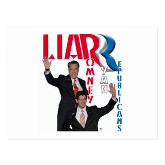 Cartão Postal Mentiroso - Mitt Romney & Paul Ryan