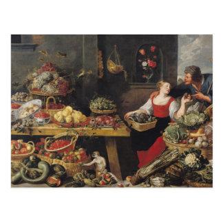 Cartão Postal Mercado de frutas e legumes