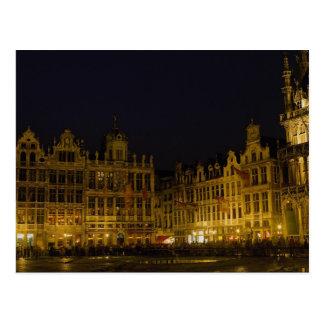 Cartão Postal Mercado de Grote, Bruxelas, Bélgica