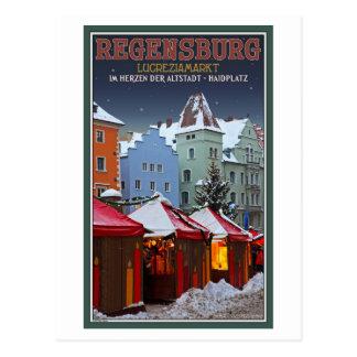Cartão Postal Mercado de Regensburg Lucrezia