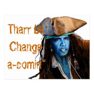 Cartão Postal Mercadoria do pirata de Obama