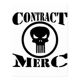 Cartão Postal Mercenário de Merc do contrato