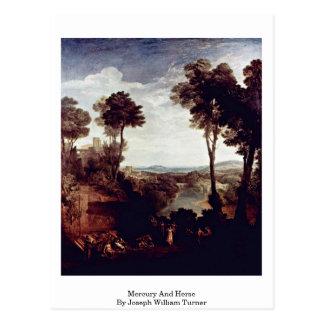Cartão Postal Mercury e Herse por Joseph William Turner
