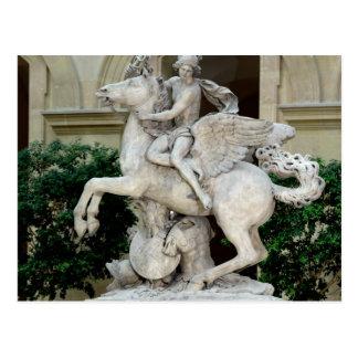 Cartão Postal Mercury que monta Pegasus