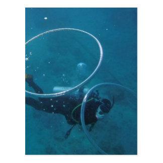 Cartão Postal Mergulhador de mergulhador