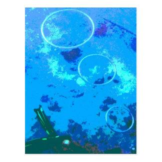 Cartão Postal Mergulhador de mergulhador de Havaí