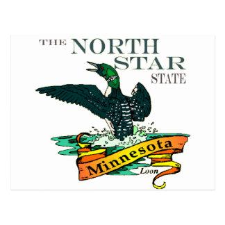 Cartão Postal Mergulhões-do-norte do estado da estrela norte de