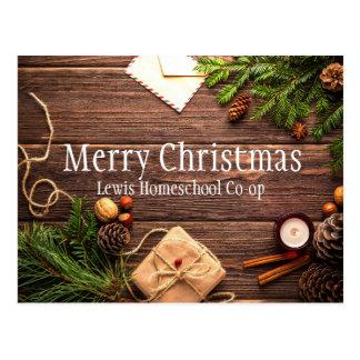 Cartão Postal Merry Christmas from Homeschool Co op