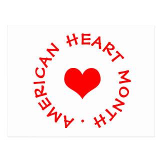 Cartão Postal mês americano do coração