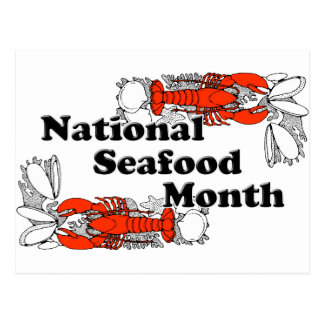 Cartão Postal Mês nacional do marisco