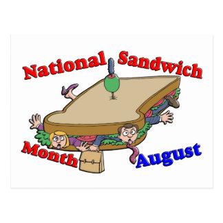Cartão Postal Mês nacional do sanduíche de agosto