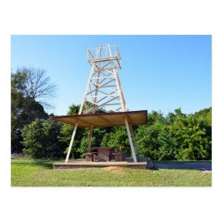Cartão Postal Mesa de piquenique da torre de óleo, I-20 estrada,