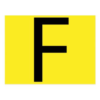 Cartão Postal Mesa periódica da letra F