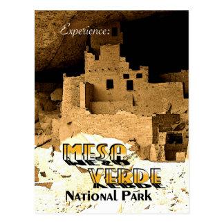 Cartão Postal Mesa Verde - estilo do vintage