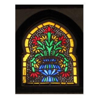 Cartão Postal Mesquita da janela de vitral de Suleyman Aga