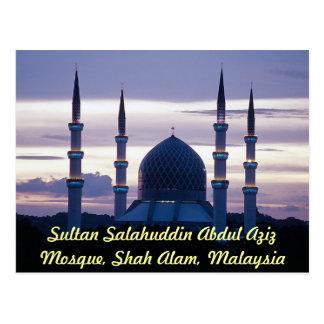 Cartão Postal Mesquita de Salahuddin Abdul Aziz da sultão, Shah
