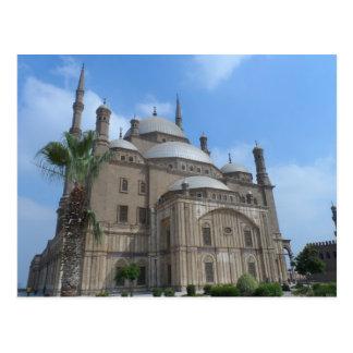 Cartão Postal Mesquita do Cairo, Egipto de Mohamed Ali na