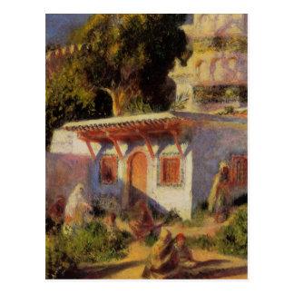Cartão Postal Mesquita em Argel por Pierre-Auguste Renoir