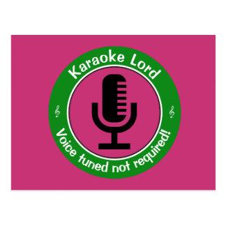 Cartão Postal Mestre do karaoke