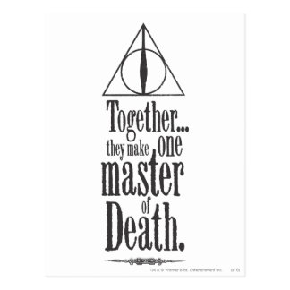 Cartão Postal Mestre do período   de Harry Potter da morte