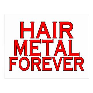 Cartão Postal Metal do cabelo para sempre