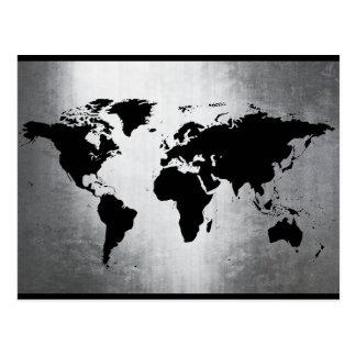 Cartão Postal Metal do mapa do mundo