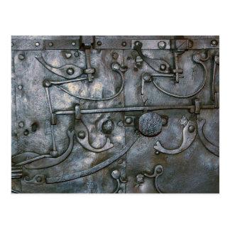Cartão Postal Metal pesado do ferro do Grunge