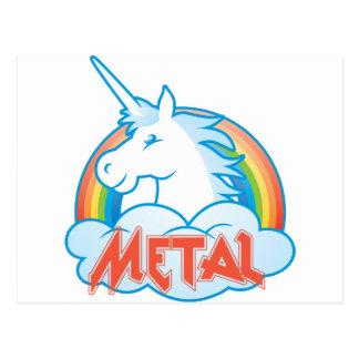 Cartão Postal metal-unicórnio