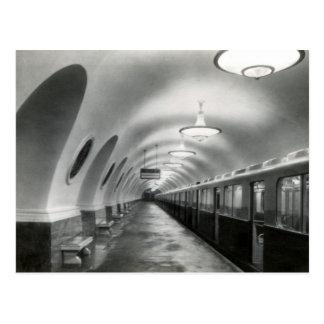Cartão Postal Metro de Moscovo do soviete de URSS