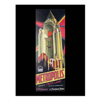 Cartão Postal Metrópole de Fritz Lang